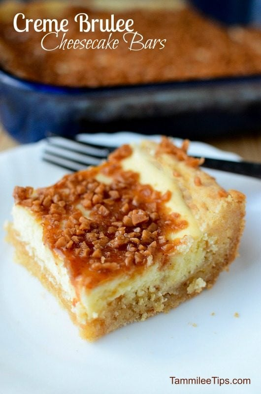 Hello yum! Creme Brulee Cheese Cake Bars Recipe that is hard to resist! Crème brûlée, meet sugar cookie -- in this easy dessert bar recipe, both treats come together in each bite.
