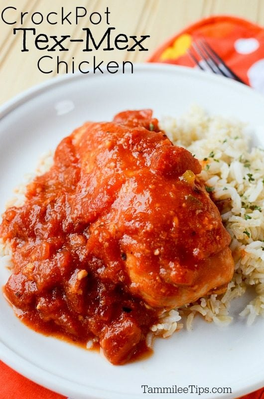 Slow Cooker Crock Pot Tex Mex Chicken is a great easy recipe that everyone will love for dinner. #crockpot #slowcooker #chicken