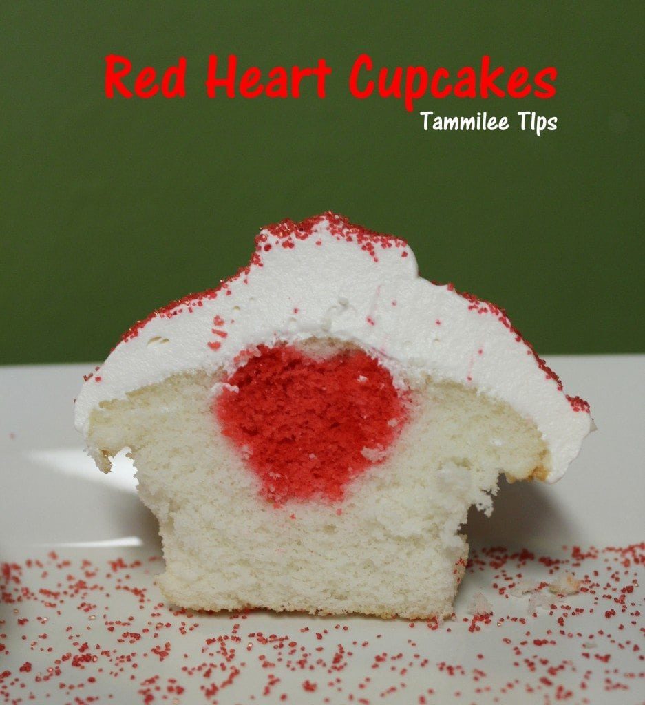 Red Heart Cupcakes