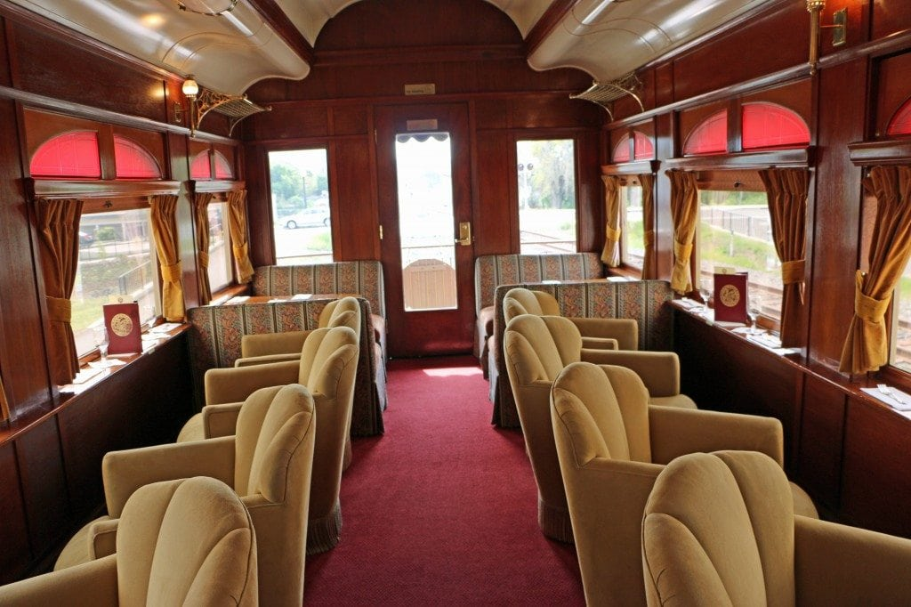 inside Napa Valley Wine Train