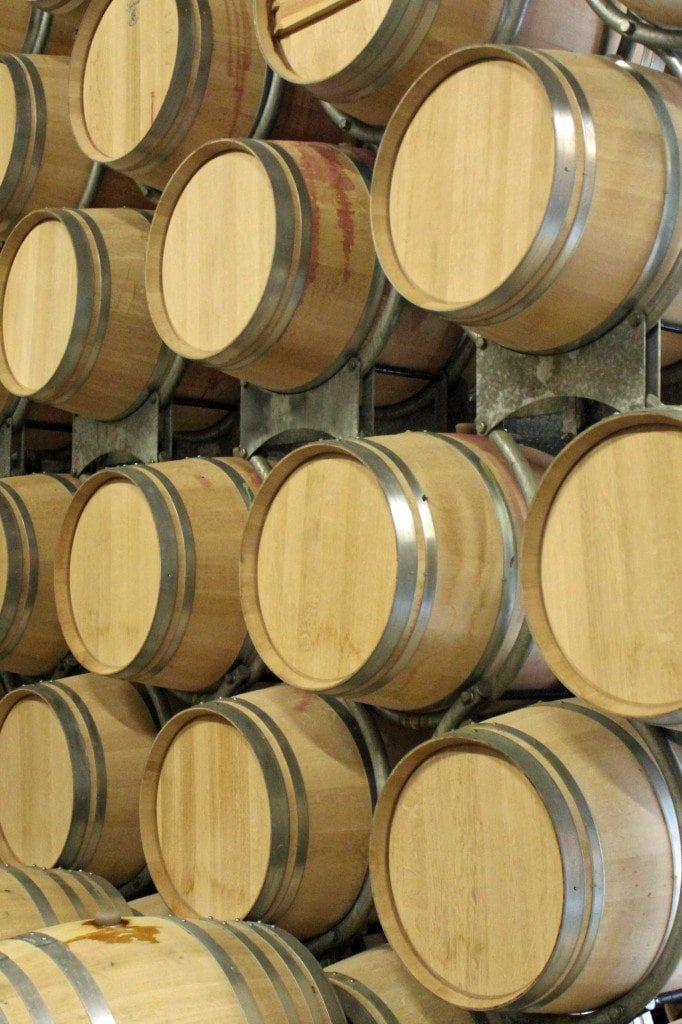 Girgich Hills Estate wine barrels