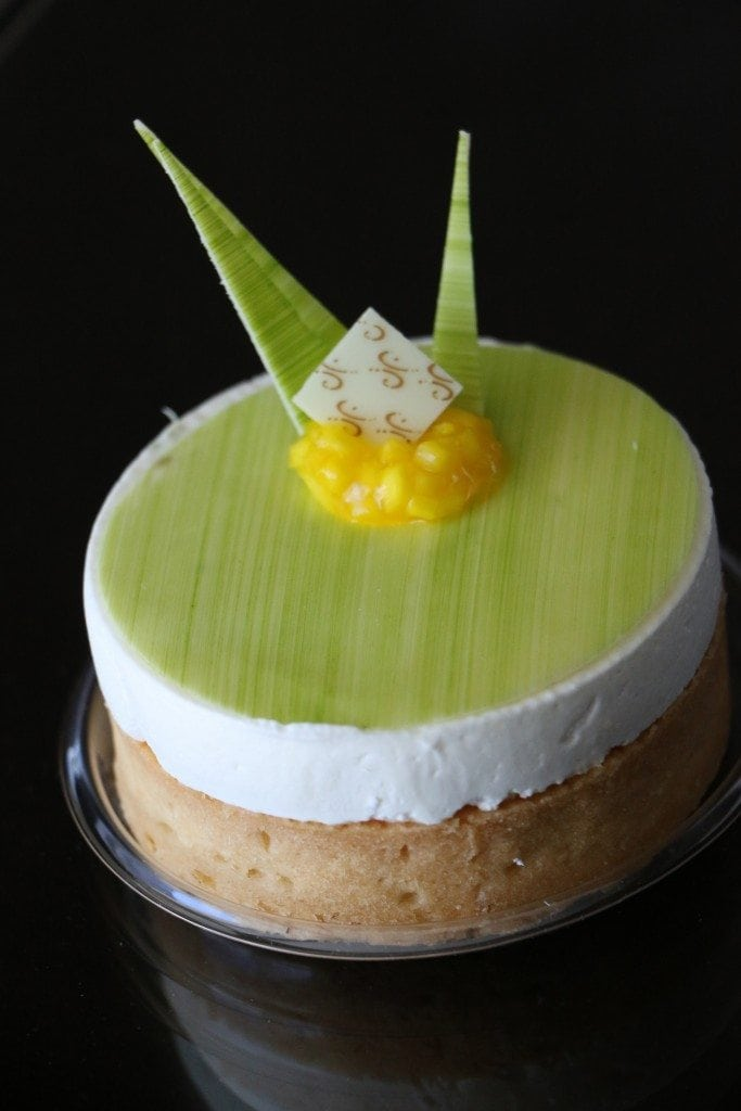 key lime pastry inside Aria