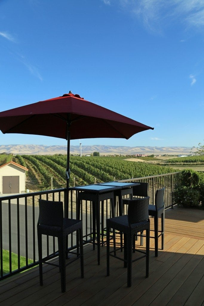 outside seating at PepperBridge Winery