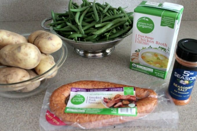 Crockpot Kielbasa and Green Beans with Potatoes Ingredients