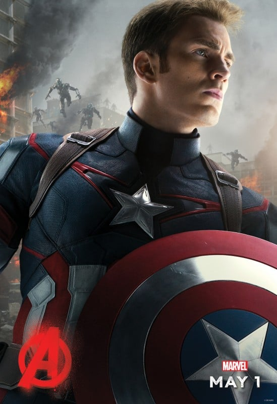 Avengers Age of Ultron Movie Poster Captain America
