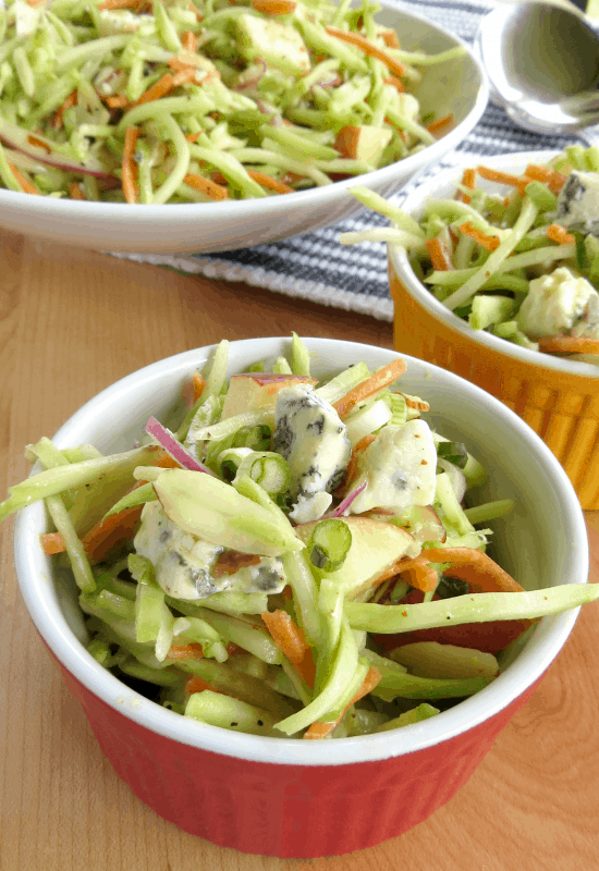 Easy Broccoli Slaw Recipe perfect for summer barbecues and picnics! So easy to make. Great healthy dinner idea you can make tonight.