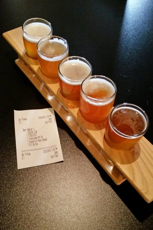 Test flight at Harmony Brewing
