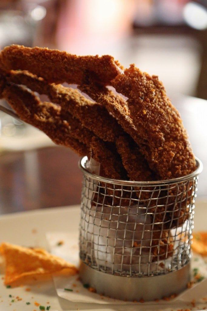 Doritos covered Bacon Appetizer at the Twisted Rooseter