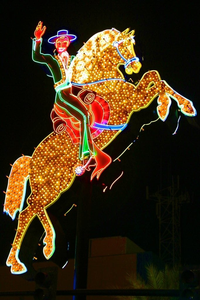 Cowboy and horse sign Freemont Street
