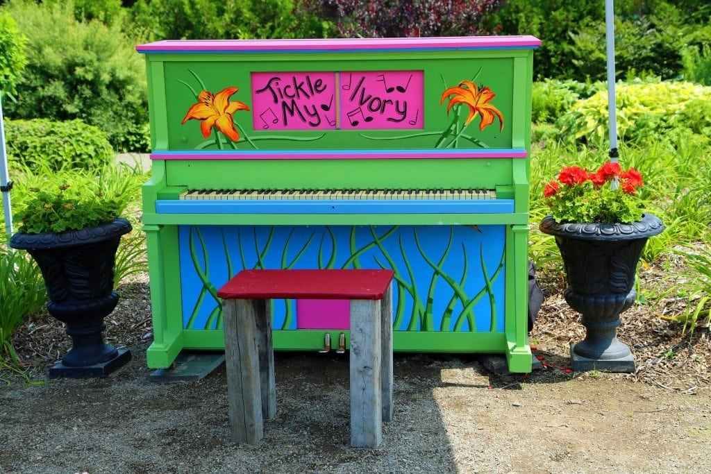 Piano at Kingsbrae Gardens