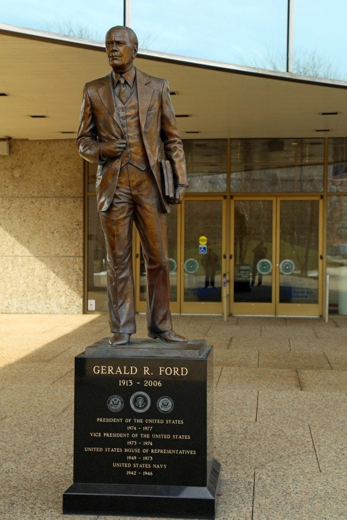Statue of Gerald Ford at Museum