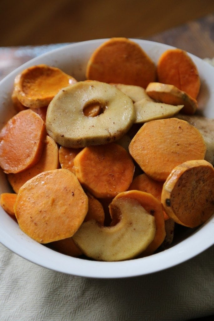 Crock Pot Apple Praline Sweet Potato