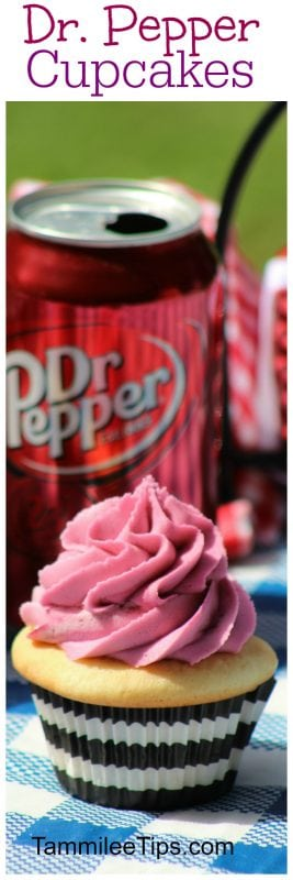 Easy made from scratch Dr. Pepper Cupcake Recipe you will love. Great for birthday parties, summer picnics or any day of the week.
