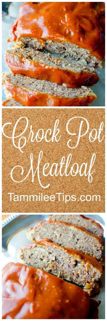 Delicious, easy, best family favorite Crock Pot Meatloaf Recipe is so easy to make! This slow cooker recipes is perfect! The crockpot does all the work!