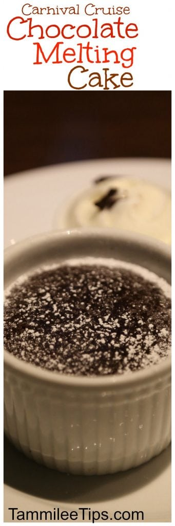 How to make Carnival CruiseWarm Chocolate Melting Cake Recipe! Bring your cruise vacation home with you!