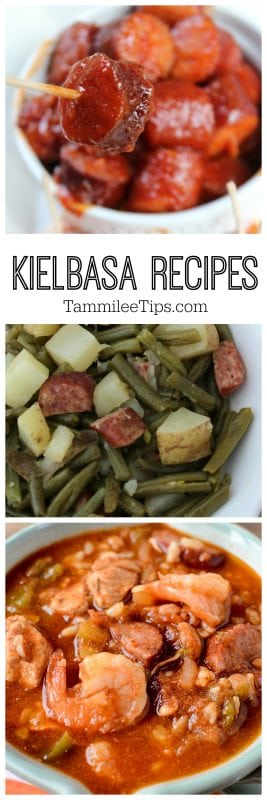 Easy Kielbasa Recipes you can make today! Including crock pot slow cooker appetizer recipes, entrees, side dishes and more!