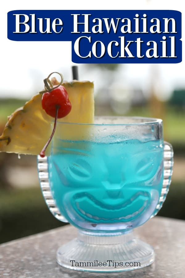 Blue Hawaii Drink Cocktail Recipe Video Tammilee Tips