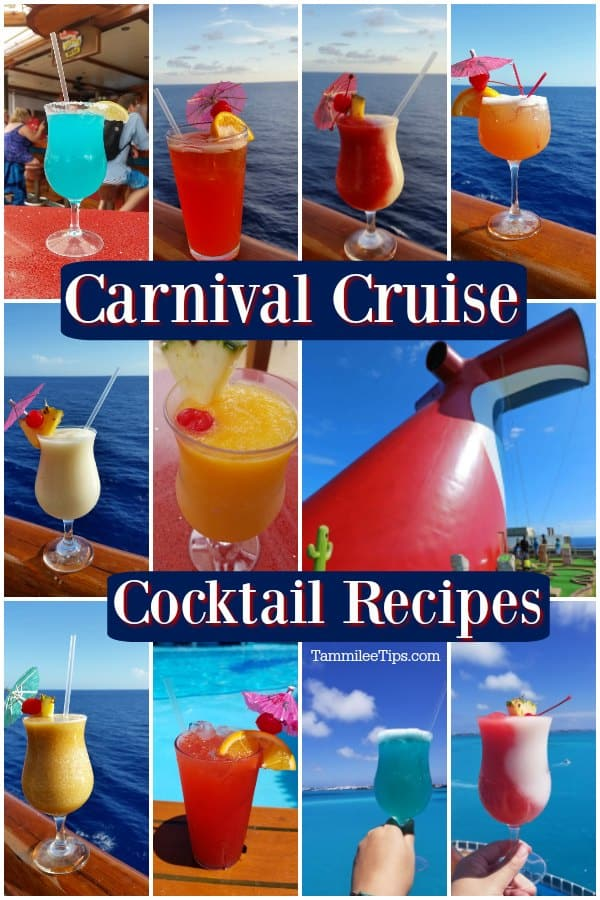 Carnival Cruise Drink Recipes You Can Make At Home Tammilee Tips
